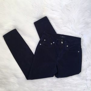 J. Crew Blue Corduroy High Waisted Toothpick Pants